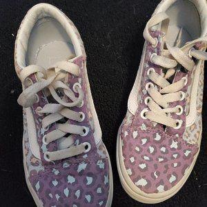 Vans Purple Leopard Pattern Sneakers